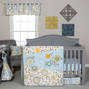 Waverly Baby by Trend Lab® - Pom Pom Spa - 4 Piece Crib Bedding Set