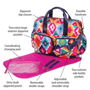 French Bull® - Kat Deluxe Duffle Diaper Bag