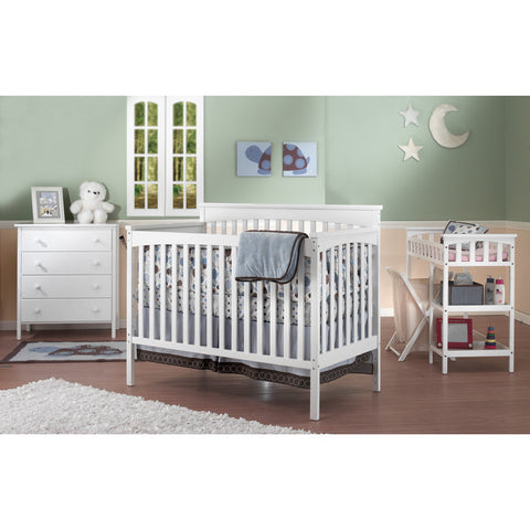 Sorelle SB2 Petite Paradise Convertible Crib Set - White SB2 Nursery Furniture - Nurzery.com - 1