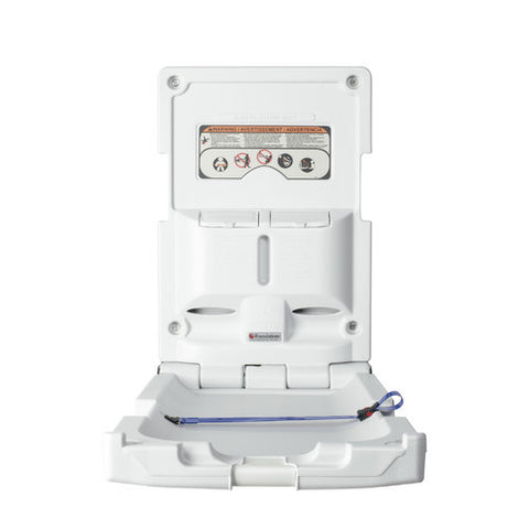 Foundations Vertical Mount Baby Changing Station White - 100-EV-BP -  Foundations Changing Cabinet - Nurzery.com - 1