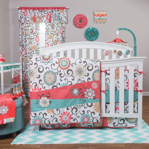 Waverly Baby by Trend Lab® - Pom Pom Play - 4 Piece Crib Bedding Set