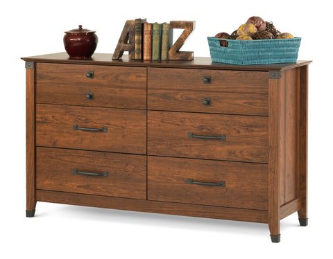 Child Craft Redmond Double Dresser Coach Cherry - F02809.06 -  Child Craft Nursery Furniture - Nurzery.com - 1