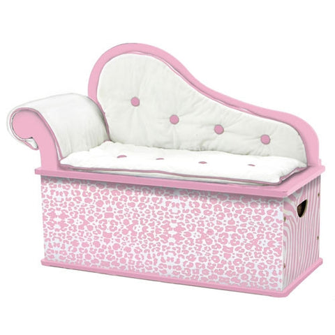 Levels of Discovery Pink Wild Side Bench Seat w/ Storage - S101 -  Levels of Discovery Furniture - Nurzery.com