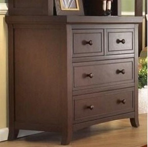 Sorelle Alex 3 Drawer Chest 1510 - Mocha Cafe Sorelle Dresser - Nurzery.com