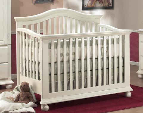 Sorelle Vista 4 in 1 Convertible Crib - French White Sorelle All Cribs - Nurzery.com - 1