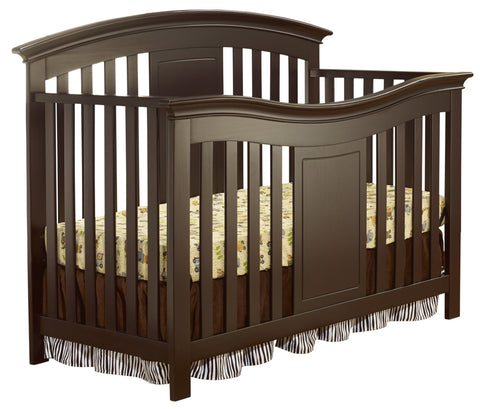 Sorelle Yorkshire 4-in-1 Convertible Crib - Merlot Sorelle All Cribs - Nurzery.com - 1
