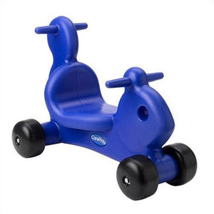CarePlay Squirrel Push/Scoot Ride-On - Blue - C2001S - Blue CarePlay Tricycle - Nurzery.com - 1