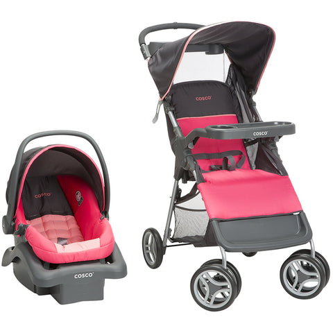 Cosco Lift & Stroll Travel System (Colorblock Coral) - TR355DYI