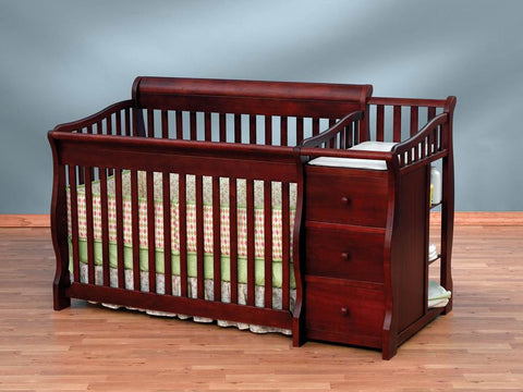 Sorelle Tuscany 4 in 1 Convertible Crib - 1050G - Cherry Sorelle All Cribs - Nurzery.com - 1