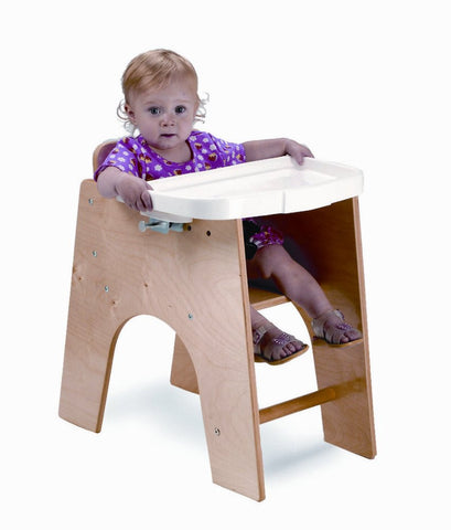 Whitney Brothers NewWave Low High Chair WB0031 -  Whitney Bros Children's Chair - Nurzery.com