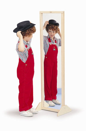 Whitney Brothers Vertical or Horizontal Mirror With Stand WB0338 -  Whitney Bros Mirror - Nurzery.com