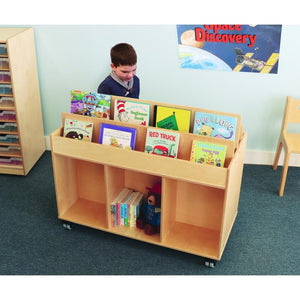 Whitney Brothers Mobile Book Storage Island WB0383