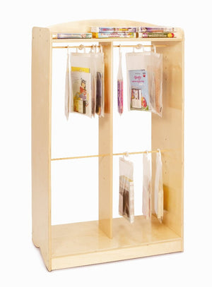 Whitney Brothers Hanging Bag Storage Unit WB0540 -  Whitney Bros Book Display - Nurzery.com