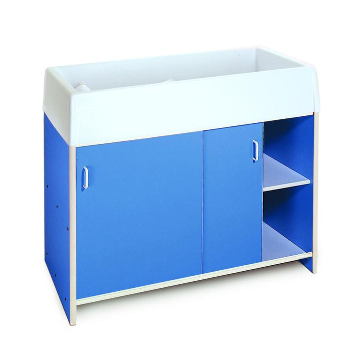 Whitney Brothers EZ  Clean Infant Changing Cabinet - Blue WB0721