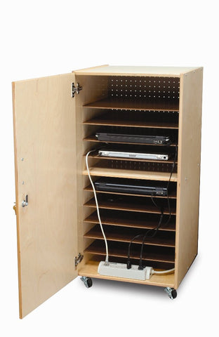 Whitney Brothers Laptop Security Cabinet: Single WB0779 -  Whitney Bros Laptop Storage - Nurzery.com