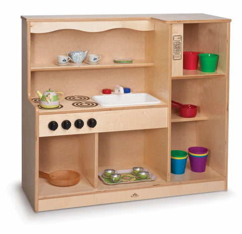 Whitney Brothers Toddler Kitchen Combo WB0782 -  Whitney Bros Children's Play Housekeeping Furniture - Nurzery.com