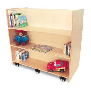 Whitney Brothers Two Sided Mobile Library Cart WB1037