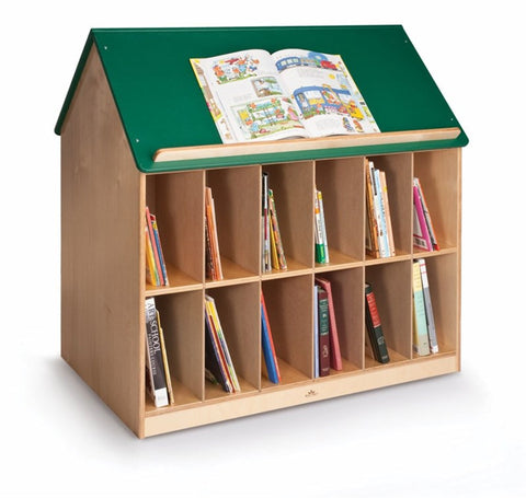 Whitney Brothers Book House With A Green Roof WB1042 -  Whitney Bros Mobile Book Cabinet - Nurzery.com