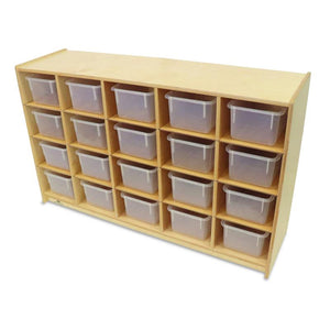 Whitney Brothers Cubby Storage Cabinet With 20 Trays WB3251