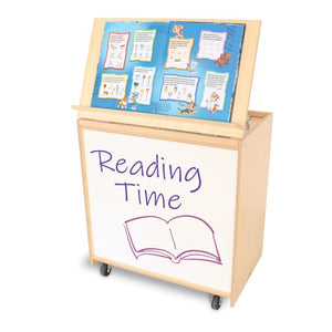 Whitney Brothers Big Book Display With Write & Wipe Back - WB6255