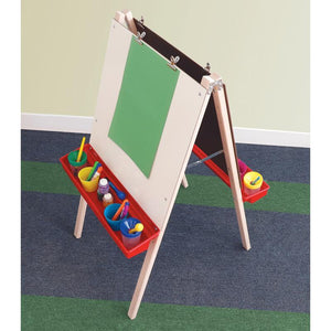 Whitney Brothers Adjustable Easel with Chalkboard, Write & Wipe Boards WB6800
