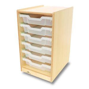 Whitney Brothers Clear Tray Single Storage Cabinet WB7001