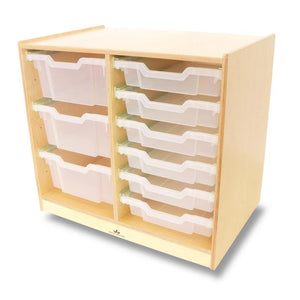 Whitney Brothers Clear Tray Double Storage Cabinet WB7002