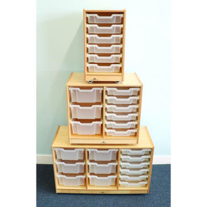 Whitney Brothers Clear Tray Triple Storage Cabinet WB7003