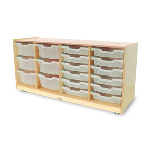 Whitney Brothers Clear Tray Quad Storage Cabinet WB7004