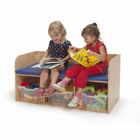 Whitney Brothers Bench With Storage WB3124 -  Whitney Bros Dressing Bench - Nurzery.com