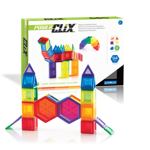 Guidecraft PowerClix® Solids 94 Piece Set - G9423 - Default Title Guidecraft Toys - Nurzery.com