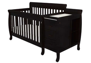 AFG Kimberly 4-in-1 Convertible Crib and Changer Combo - 518 - Black AFG Furniture International All Cribs - Nurzery.com - 16