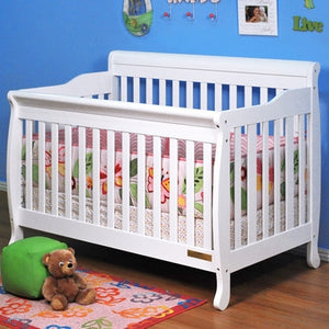 AFG Furniture International Alice 4-in-1 Sleigh Convertible Crib - 4689 - White AFG Furniture International All Cribs - Nurzery.com - 4