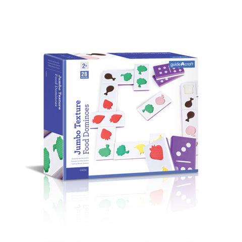 Guidecraft Jumbo Texture Food Dominoes - G5056 - Default Title Guidecraft Toys - Nurzery.com