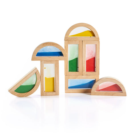 Guidecraft Rainbow Blocks Sand - G3014 - Default Title Guidecraft Toys - Nurzery.com