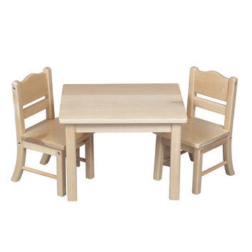 Guidecraft Doll Table & Chair Set Natural - G98114 - Default Title Guidecraft Toys - Nurzery.com