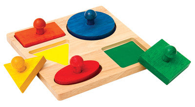 Guidecraft Geometric Puzzle Board - G527 - Default Title Guidecraft Toys - Nurzery.com