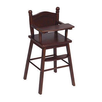 Guidecraft Doll High Chair Espresso - G98105 - Default Title Guidecraft Toys - Nurzery.com