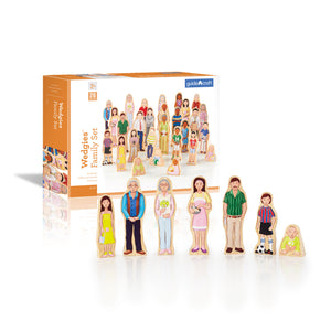 Guidecraft Wedgies Multi-Cultural Family Set - G1123 - Default Title Guidecraft Toys - Nurzery.com