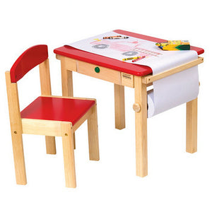 Guidecraft Art Table & Chair Set RED - G98049 - Default Title Guidecraft Toys - Nurzery.com