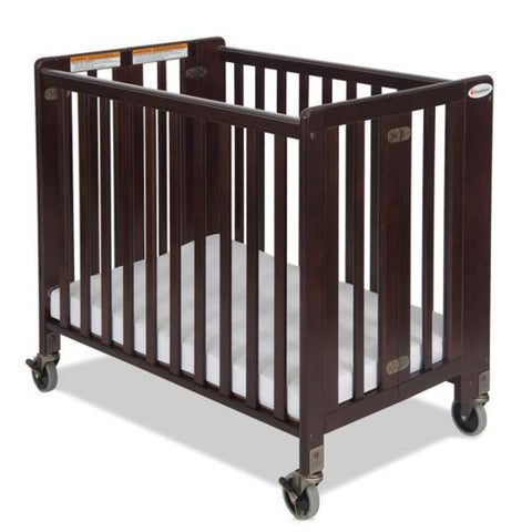 Foundations HideAway Folding Crib Compact-Size 1031852 - Antique Cherry Foundations All Cribs - Nurzery.com - 1