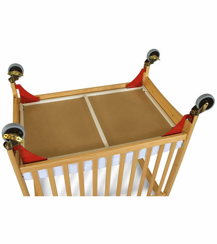 Foundations Evacuation Frame for Crib Red with Antique Brass - 1962077 -  Foundations All Cribs - Nurzery.com