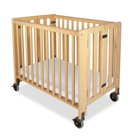Foundations HideAway Folding Crib  Compact-Size Natural -  Foundations All Cribs - Nurzery.com - 1