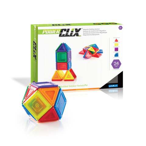 Guidecraft PowerClix® Solids  24 Piece Set - G9420 - Default Title Guidecraft Toys - Nurzery.com