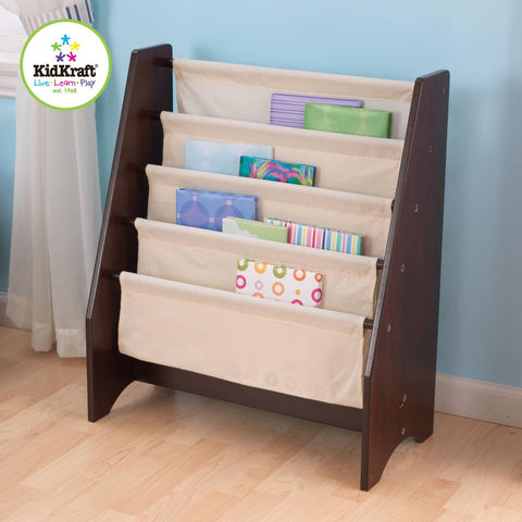 Kidkraft Sling Bookshelf - Espresso - 14229 -  Kid Kraft Book Display - Nurzery.com - 1