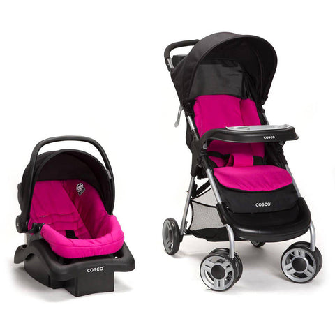 Cosco Lift and Stroll Plus Travel System - Very Berry - TR372DFN -  Cosco Strollers - Nurzery.com
