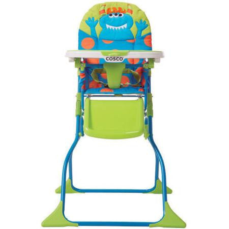 Cosco Simple Fold Deluxe High Chair - Monster Syd - HC237DHC -  Cosco High Chairs & Boosters - Nurzery.com - 1