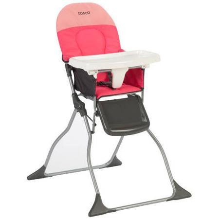 Cosco Simple Fold High Chair - Colorblock Coral - HC225DYI -  Cosco High Chairs & Boosters - Nurzery.com - 1