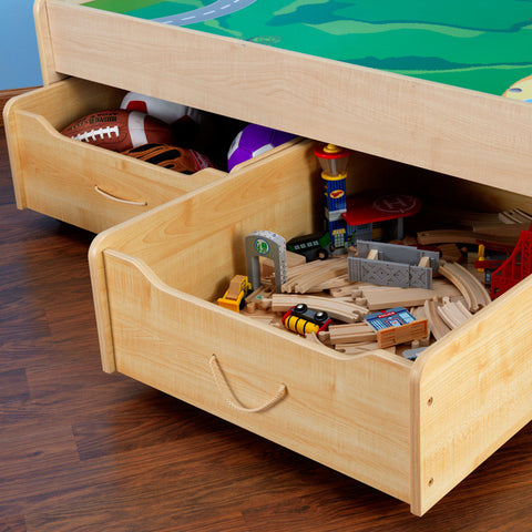 KidKraft Train Trundle Drawes- Natural - 17751 -  Kid Kraft Pretend Play - Nurzery.com - 1