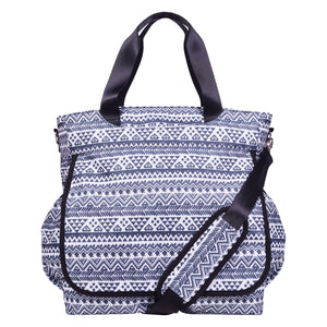 Trend Lab® - Black and White Aztec Tote Diaper Bag